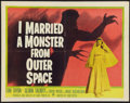 """Movie Posters:Science Fiction, I Married a Monster from Outer Space (Paramount, 1958). Half Sheet(22"""" X 28""""). Science Fiction.. ..."""