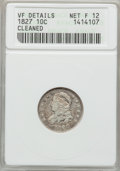 Bust Dimes: , 1827 10C -- Cleaned -- ANACS. VF Details Net F12. NGC Census:(4/258). PCGS Population (8/283). Mintage: 1,300,000. Numisme...