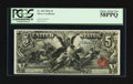 Large Size:Silver Certificates, Fr. 269 $5 1896 Silver Certificate PCGS Choice About New 58PPQ.....