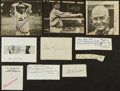 Baseball Collectibles:Others, Baseball Legends Signed Cut Signatures Lot of 10....