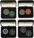 Football Collectibles:Others, 1995-2000 National Football League Hall of Fame Press Pins Lot of 8....