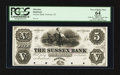Obsoletes By State:New Jersey, Newton, NJ- The Sussex Bank $5 G38 Proof. ...