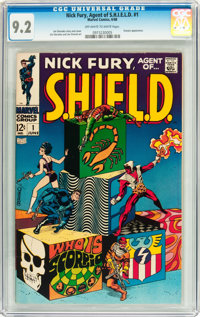 Nick Fury, Agent of S.H.I.E.L.D. #1 (Marvel, 1968) CGC NM- 9.2 Off-white to white pages