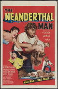 "Movie Posters:Horror, The Neanderthal Man (United Artists, 1953). One Sheet (27"" X 41""). Horror.. ..."