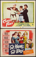 "Movie Posters:Bad Girl, So Young, So Bad and Other Lot (United Artists, 1950). Title LobbyCard and Lobby Card (11"" X 14""). Bad Girl.. ... (Total: 2 Items)"
