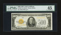 Small Size:Gold Certificates, Fr. 2407 $500 1928 Gold Certificate. PMG Choice Extremely Fine 45.. ...