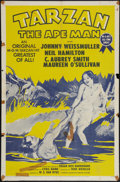 "Movie Posters:Adventure, Tarzan the Ape Man (MGM, R-1954). One Sheet (27"" X 41"").Adventure.. ..."