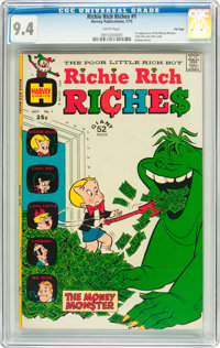Richie Rich Riches #1 File Copy (Harvey, 1972) CGC NM 9.4 White pages