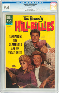 Beverly Hillbillies #5 File Copy (Dell, 1964) CGC NM 9.4 White pages