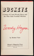 """Football Collectibles:Publications, Woody Hayes Signed """"Buckeye"""" Hardcover Book. ..."""