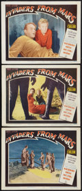 "Movie Posters:Science Fiction, Invaders from Mars (20th Century Fox, 1953). Lobby Cards (3) (11"" X 14""). Science Fiction.. ... (Total: 3 Items)"