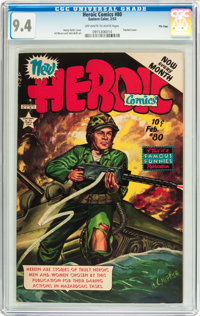 Heroic Comics #80 File Copy (Eastern Color, 1953) CGC NM 9.4 Off-white to white pages