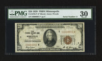 Fr. 1870-I* $20 1929 Federal Reserve Bank Note. PMG Very Fine 30