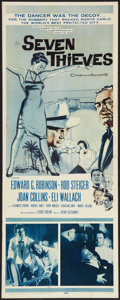 """Movie Posters:Crime, Seven Thieves (20th Century Fox, 1959). Insert (14"""" X 36""""). Crime.. ..."""