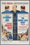 """Movie Posters:Hitchcock, The Man Who Knew Too Much/The Trouble With Harry Combo (Paramount, R-1963). One Sheet (27"""" X 41""""). Hitchcock.. ..."""