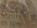 Mainstream Illustration, DEAN CORNWELL (American, 1892-1960). Sir Walter Raleigh, studyfor Raleigh Room mural. Pastel on paper. 17.5 x 23 in.. A...
