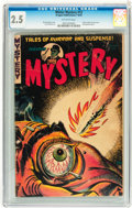 Golden Age (1938-1955):Horror, Mister Mystery #12 (Aragon, 1953) CGC GD+ 2.5 Off-white pages....
