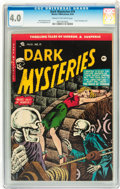 Golden Age (1938-1955):Horror, Dark Mysteries #19 (Master Publications, 1954) CGC VG 4.0 Cream tooff-white pages....