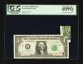 Error Notes:Foldovers, Fr. 1913-L $1 1985 Federal Reserve Note. PCGS Extremely Fine45PPQ.. ...