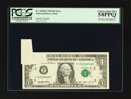 Error Notes:Foldovers, Fr. 1918-F $1 1993 Federal Reserve Note. PCGS Choice About New58PPQ.. ...