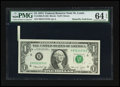 Error Notes:Foldovers, Fr. 1908-H $1 1974 Federal Reserve Note. PMG Choice Uncirculated 64EPQ.. ...