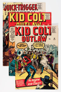Kid Colt Outlaw Group (Atlas/Marvel, 1956-61) Condition: Average FN+.... (Total: 9 Comic Books)