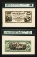 Large Size:Demand Notes, New York, NY - $10 Original Fr. 409 The First NB Ch. # 29 Face& Back Specimens. ... (Total: 2 notes)