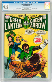 Green Lantern #78 (DC, 1970) CGC NM- 9.2 Off-white to white pages