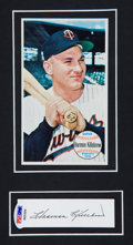 Baseball Collectibles:Others, Harmon Killebrew Signed Cut Signature Display....