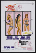 "Movie Posters:Adventure, Deadlier Than the Male (Universal, 1967). One Sheet (27"" X 41"").Adventure. Starring Elke Sommer, Sylva Koscina, Suzanna Lei..."