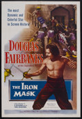"Movie Posters:Adventure, The Iron Mask (Lippert Pictures, R-1953). One Sheet (27"" X 41"").Adventure. Starring Douglas Fairbanks, Marguerite De La Mot..."