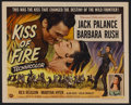 "Movie Posters:Adventure, Kiss of Fire (Universal, 1955). Half Sheet (22"" X 28"") Style B.Adventure. Starring Jack Palance, Barbara Rush, Rex Reason, ..."