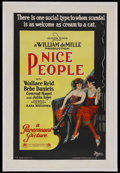"Movie Posters:Comedy, Nice People (Paramount, 1922). One Sheet (27"" X 41"") Style B.Comedy. Starring Bebe Daniels, Wallace Reid, William Boyd, Con..."