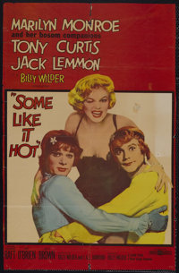 "Some Like It Hot (United Artists, 1959). One Sheet (25"" X 40""). Comedy. Starring Marilyn Monroe, Tony Curtis..."