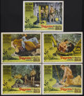 "Movie Posters:Adventure, Tarzan and the Valley of Gold (American International, 1966). LobbyCards (5) (11"" X 14""). Action Adventure. Starring Mike H... (Total:5 Items)"