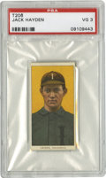 Baseball Cards:Singles (Pre-1930), 1909-11 T206 Jack Hayden American Beauty (350) Back PSA VG 3. Minor league tobacco card from the hobby-favorite T206 issue ...