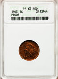 Proof Indian Cents: , 1903 1C PR63 Red PCGS. PCGS Population (8/133). NGC Census:(4/130). Mintage: 1,790. Numismedia Wsl. Price for problem free...