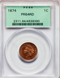 Proof Indian Cents: , 1874 1C PR64 Red PCGS. PCGS Population (24/15). NGC Census: (12/26). Mintage: 700. Numismedia Wsl. Price for problem free N...