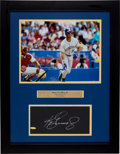Baseball Collectibles:Photos, Ken Griffey Jr. Signed Upper Deck Authenticated Photograph Display....