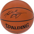 Basketball Collectibles:Balls, Kobe Bryant Full Name Signed NBA Leather Game Ball....