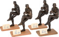 Baseball Collectibles:Others, Nolan Ryan Signed Southland Figurines Lot of 4. ...