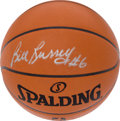 Basketball Collectibles:Balls, Bill Russell Signed Leather NBA Game Basketball....