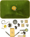 Football Collectibles:Uniforms, 1960's Green Bay Packers Team Issued Jewelry Lot of 14....