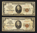 National Bank Notes:Virginia, Norfolk, VA - $20 1929 Ty. 1 The Seaboard Citizens NB Ch. # 10194;.Petersburg, VA - $20 1929 Ty. 1 The Virginia N... (Total: 2 notes)
