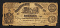 Confederate Notes:1861 Issues, CT13/56C Counterfeit $100 1861.. ...
