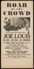 """Movie Posters:Sports, Roar of the Crowd (Norman, 1953). Herald (6"""" X 12.5""""). Sports.. ..."""