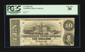 Confederate Notes:1863 Issues, Double Issue Date Error T59 $10 1863 PF-UNL Cr. UNL.. ...