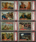 Non-Sport Cards:Sets, 1956 Topps Davy Crockett Partial Orange Set (48/80) With 3Duplicates And 12 Green Backs. ...