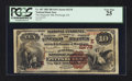 National Bank Notes:Pennsylvania, Pittsburgh, PA - $10 1882 Brown Back Fr. 487 The Duquesne NB Ch. #(E)2278. ...