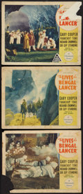"Movie Posters:Adventure, The Lives of a Bengal Lancer (Paramount, 1935). Lobby Cards (3)(11"" X 14"") & Uncut Pressbooks (3) (4 Pages, 10"" X 12.5""). A...(Total: 6 Items)"